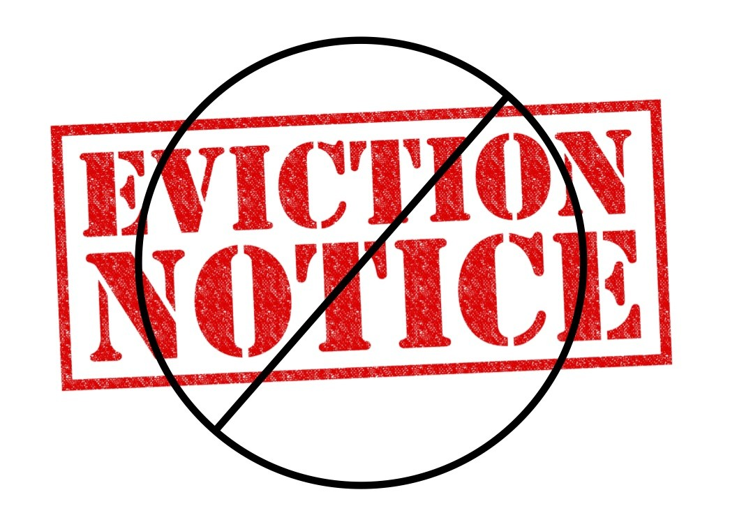 Eviction Notice crossed out to signal do not evict