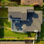 aerial view of Eastside Costa Mesa home