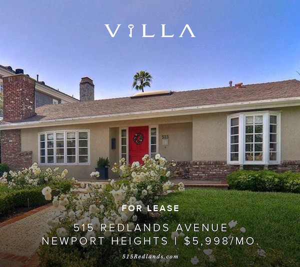 leased at full price | 515 Redlands Newport Heights | $5,998/mo.