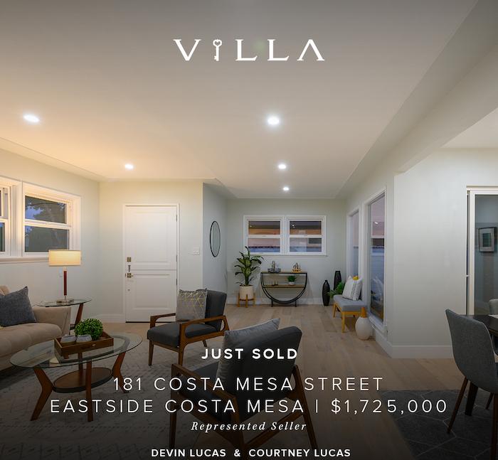 SOLD – two units | 181 Costa Mesa Street | Eastside Costa Mesa | $1.725mm